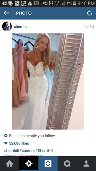 prom dress white dress mermaid prom dresses