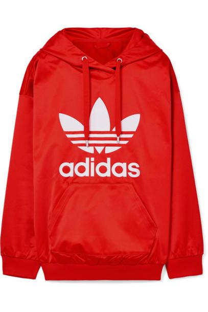 Adidas Originals top satin red