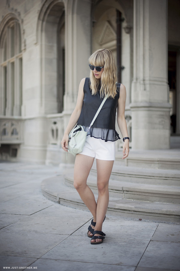 just another me top shorts shoes sunglasses