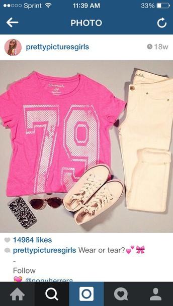 shirt pink team shirt