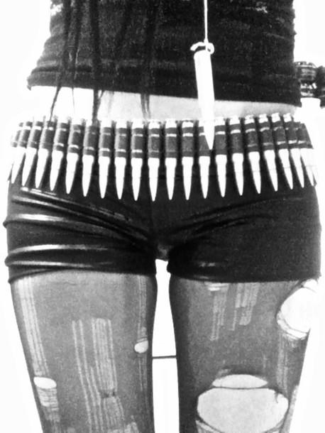 belt goth bullets silver bullet belt