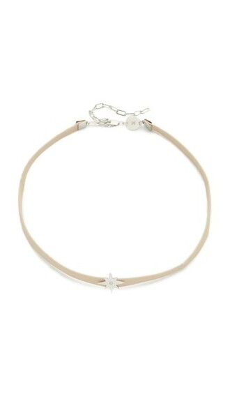 necklace choker necklace silver nude jewels