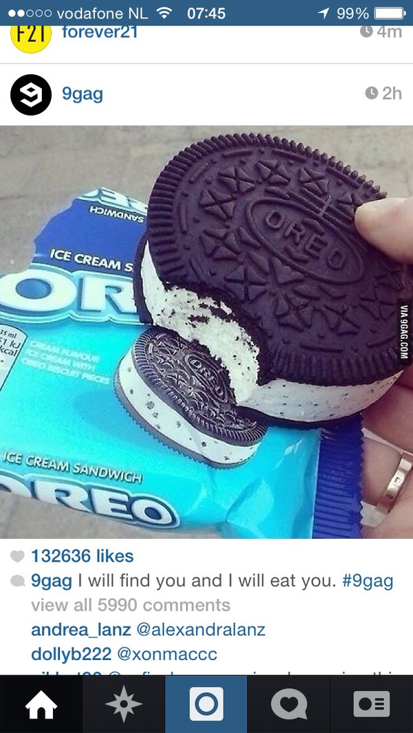 oreo black and white