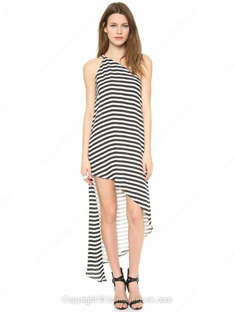 Stripes Black And White Dress Striped Dress Striped Skirt Black