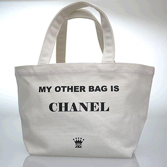 Cotton canvas totes - chanel [Cotton canvas totes - chanel] - $45.00 : Boutique M&Y, LA NY Celebrity Fashion