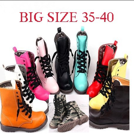 2014 Martin boots Ankle boots  7Colors Size35 40 Designer women shoes Flat Round toe Freeshipping RA44 2-in Boots from Shoes on Aliexpress.com