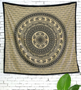 home accessory elephant bedcover tapestry hippie wall hanging mandala blanket sofa throw beach throw living room decoration bedroom decoration bedding bedsheet ethnic wall art black and white