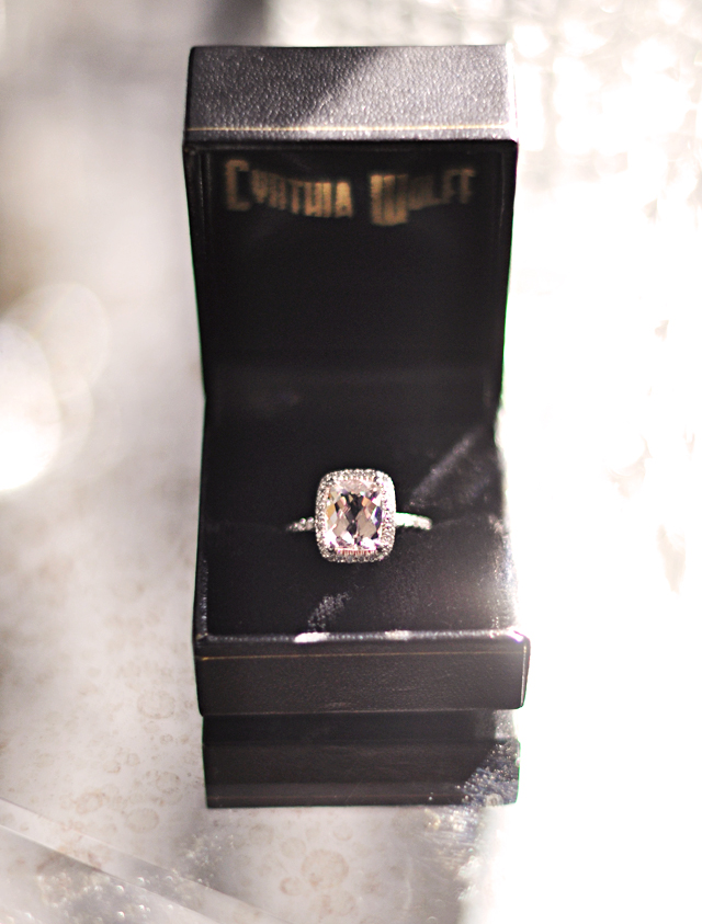 My Engagement Ring & Wedding Band   Morganite & Pave Diamonds   ...love Maegan