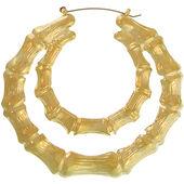 Double Bamboo Hoop Earrings