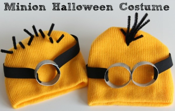 hat yellow minions black bonnet