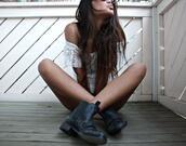low boots,leather,elastic,biker,black shoes,shoes
