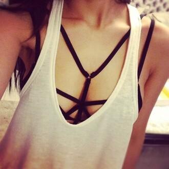 underwear bra bikini black bikini top bralette strappy bikini black bralette black bikini top tank top