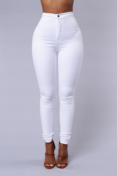 High Waisted Skinny White Jeans Ye Jean