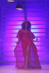 dress,georgian beautiful model and red dress