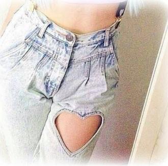 jeans heart faded