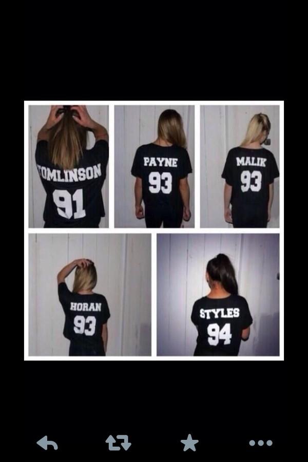 shirt louis tomlinson harry styles zayn malik liam payne t-shirt one direction tees