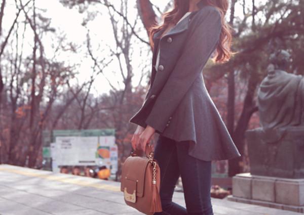 jacket military style khaki