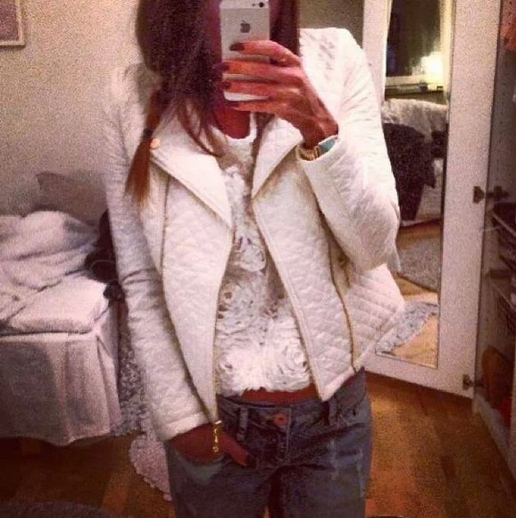 coat perfecto blanc