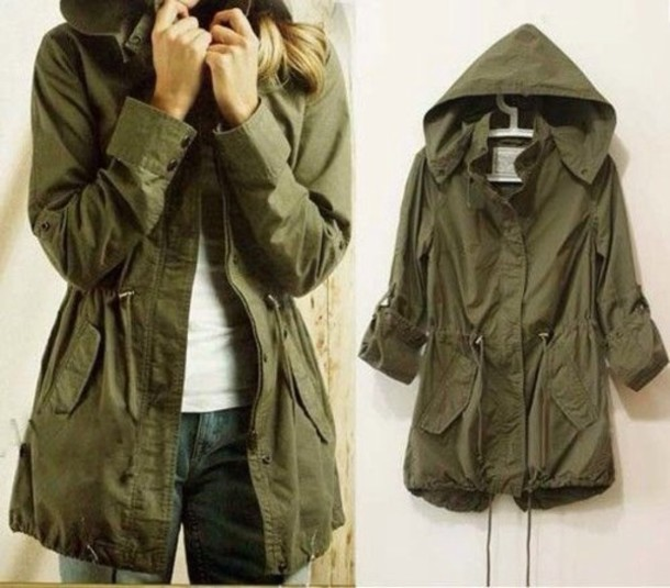 coat jacket green fall outfits army green jacket army green