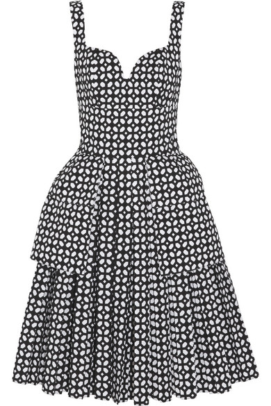 Alexander McQueen | Bonded laser-cut cotton-poplin dress | NET-A-PORTER.COM