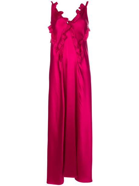 Attico dress women spandex purple pink