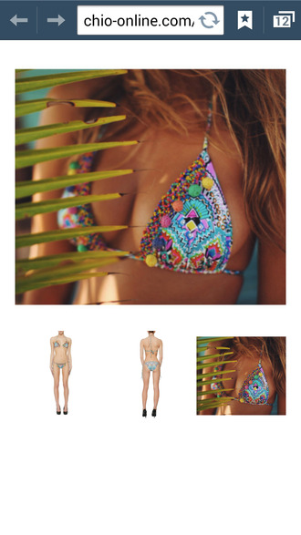 swimwear mosaic bikini swimsuit