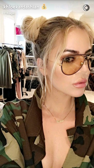 sunglasses fashion fall outfits oversized glasses khloe kardashian kardashians aviator sunglasses clear aviators summer celebrity style oversized sunglasses