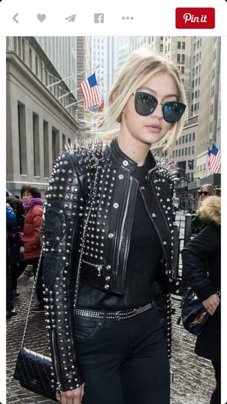 sunglasses gigi hadid blonde hair celebrity mirrored sunglasses cat eye