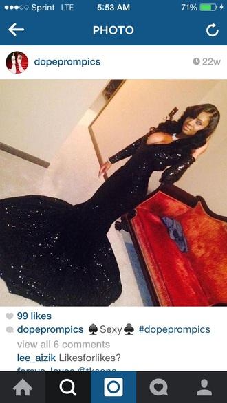 dress prom black dress long dress
