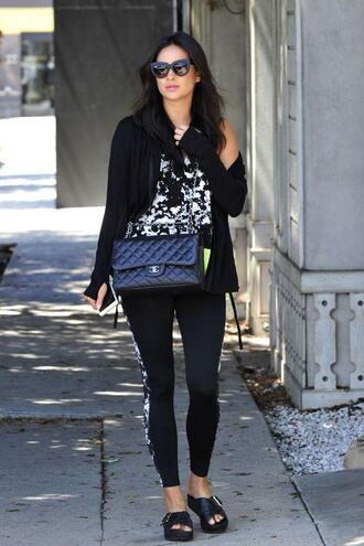 leggings shay mitchell slippers purse top