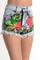 """birds of paradise"" floral print jeans shorts – glamzelle"