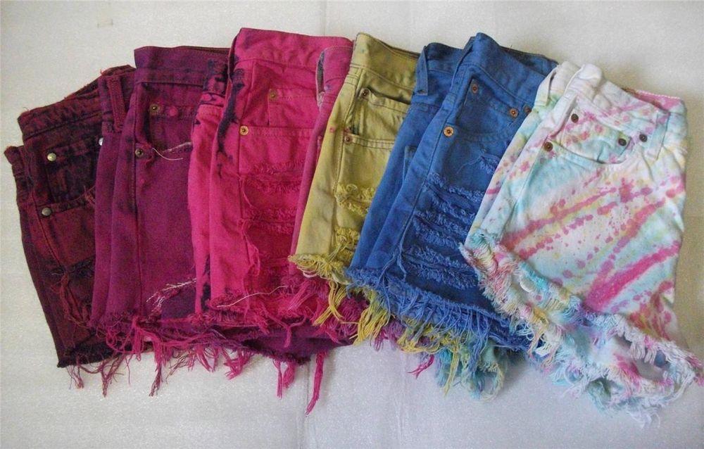 Levis Customised Vintage Denim High Waist Waisted Reworked Shorts Hotpants s XL   eBay