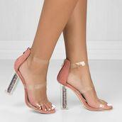 shoes,glitter,glitter shoes,glitter heels,clear heels,fashion,high heel sandals