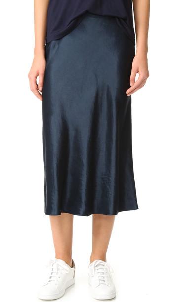 Vince Slip Skirt - Coastal
