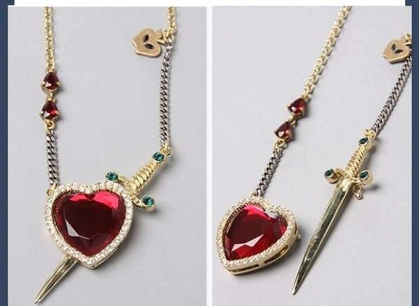 jewels heart sword heart jewelry necklace sword necklace