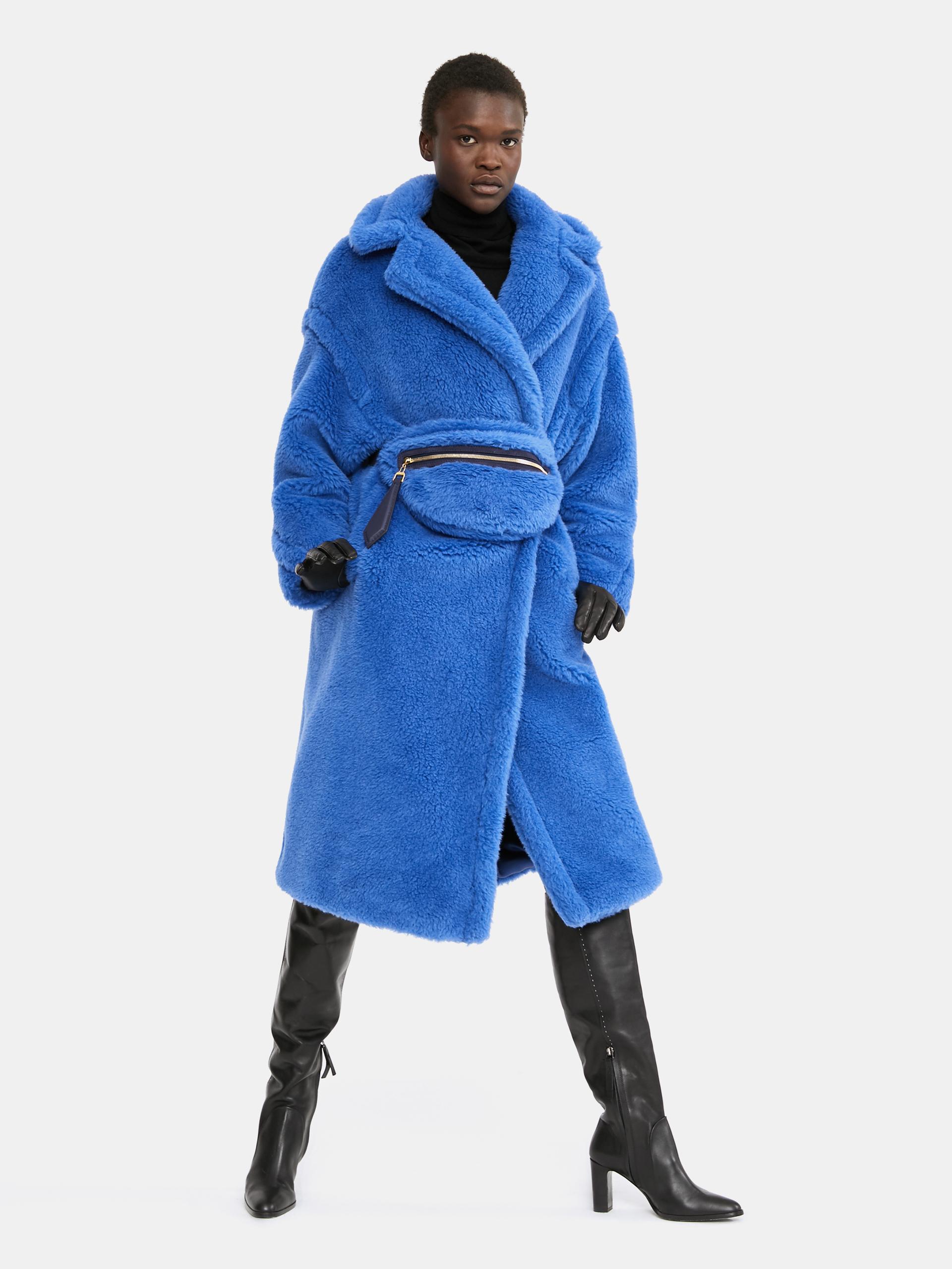 Teddy Bear Icon Coat, cornflower blue -
