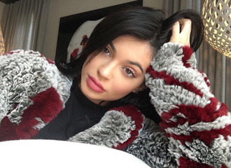 coat kylie jenner instagram faux fur kardashians fur jacket fur fur coat jacket faux fur jacket burgundy
