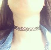 jewels,black choker