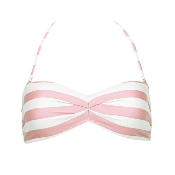 swimwear pink white stripes