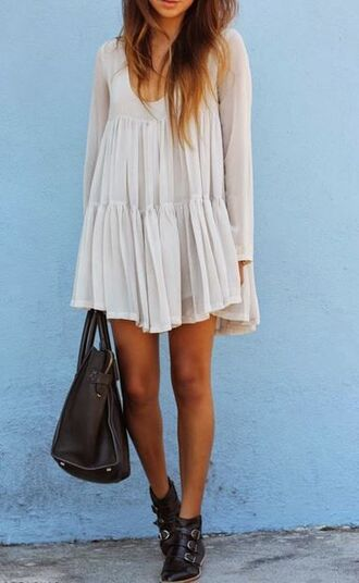 dress boho vintage layered long sleeve dress t shirt dress love