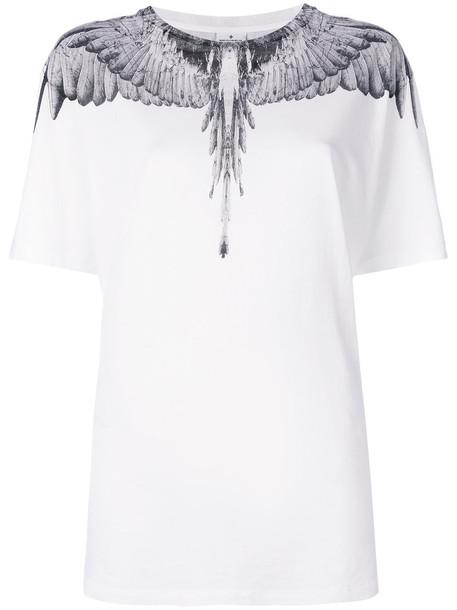 MARCELO BURLON COUNTY OF MILAN t-shirt shirt t-shirt women white cotton print top