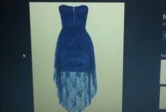 dress mullet dress blue lace lacey zip