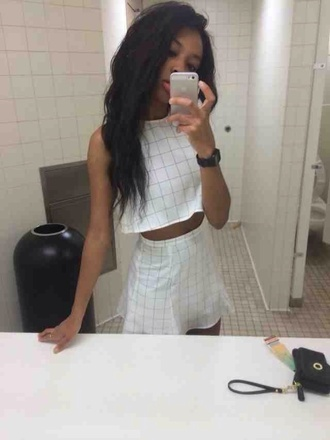 dress grunge soft grunge pale grunge soft ghetto white dress white black t-shirt shirt skirt tank top top tumblr jumpsuit set two-piece co ord white crop tops
