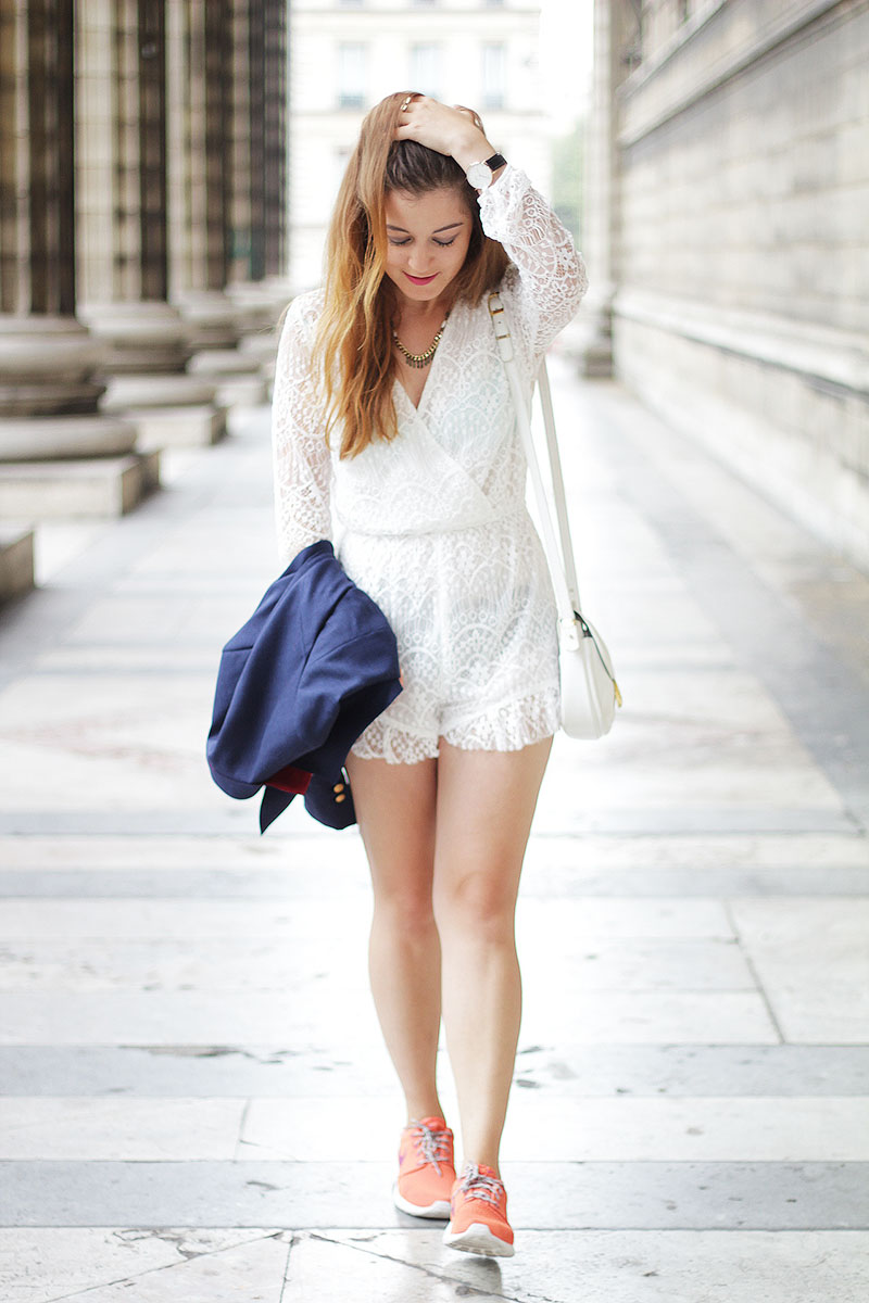 Lace Playsuit - Elodie in Paris