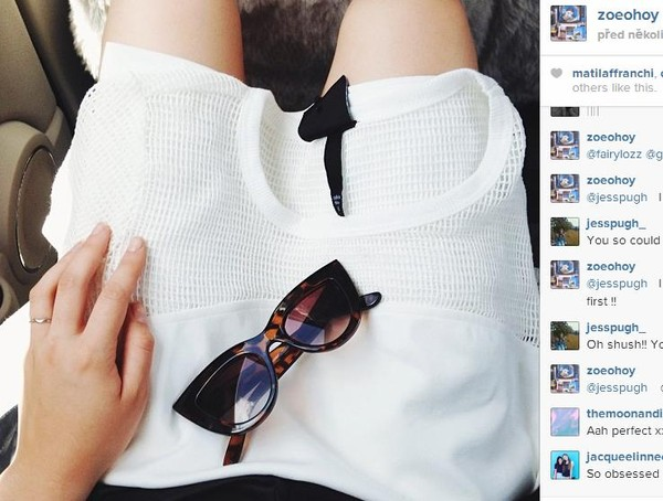 t-shirt white instagram glasses minimalist topshop american apparel shirt net see through sunglasses tumblr shades top mesh mesh cat eye tortoise shell tortoise shell sunglasses classy grunge clothes sweater style