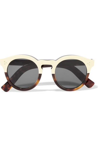 Illesteva sunglasses gold