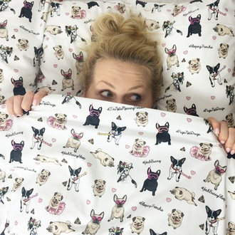 home accessory yeah bunny bedding dog dog print pugs frenchie frenchbulldog