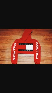 sweater,fashion killa tommy hilfigerw,red,tommy hilfiger crop top,cropped hoodie,red sweater
