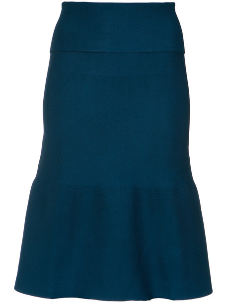 EGREY skirt women spandex blue knit
