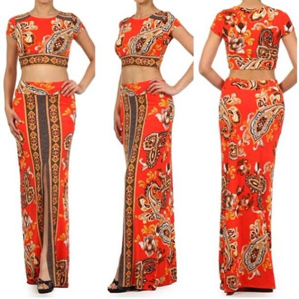 dress top skirt set